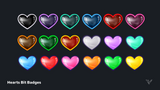 Hearts Bit Badges