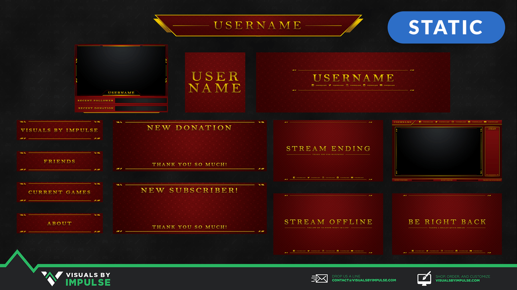 Hero Stream Package - Visuals by Impulse