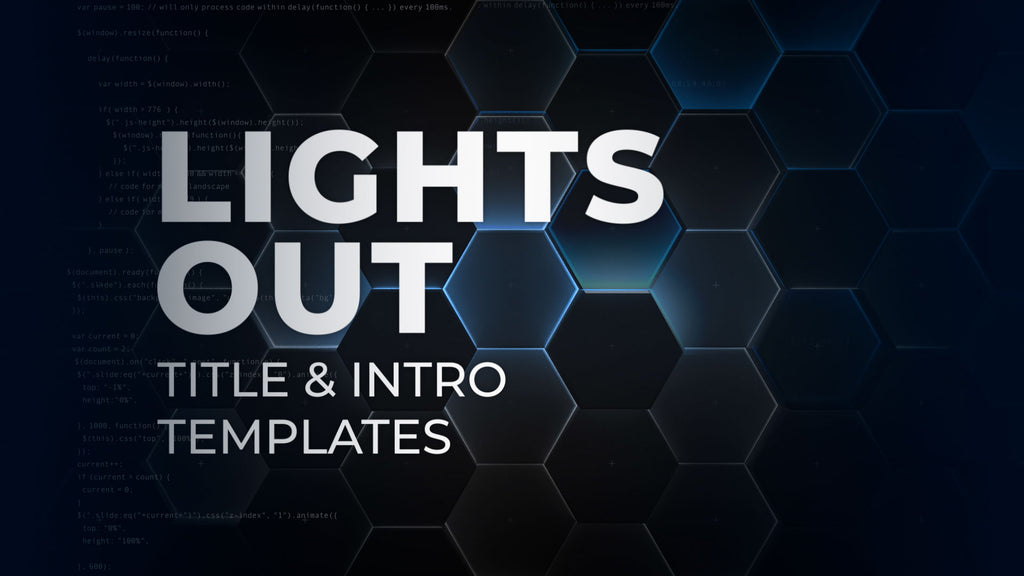 Lights Out Trailer & Intro Templates