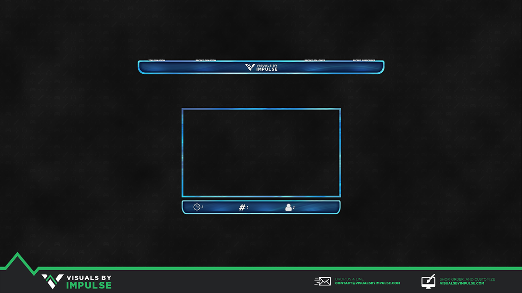 Navy Sky Twitch Overlay - Visuals by Impulse