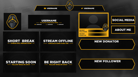 Ninja Diamond Stream Package - Visuals by Impulse