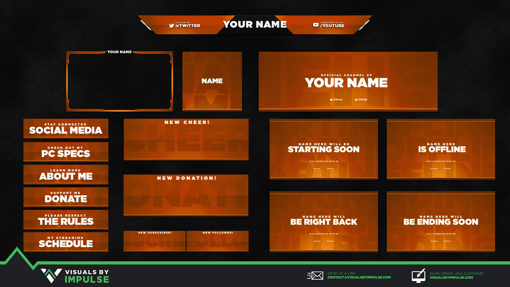 Simplicity Gem Stream Package - Visuals by Impulse