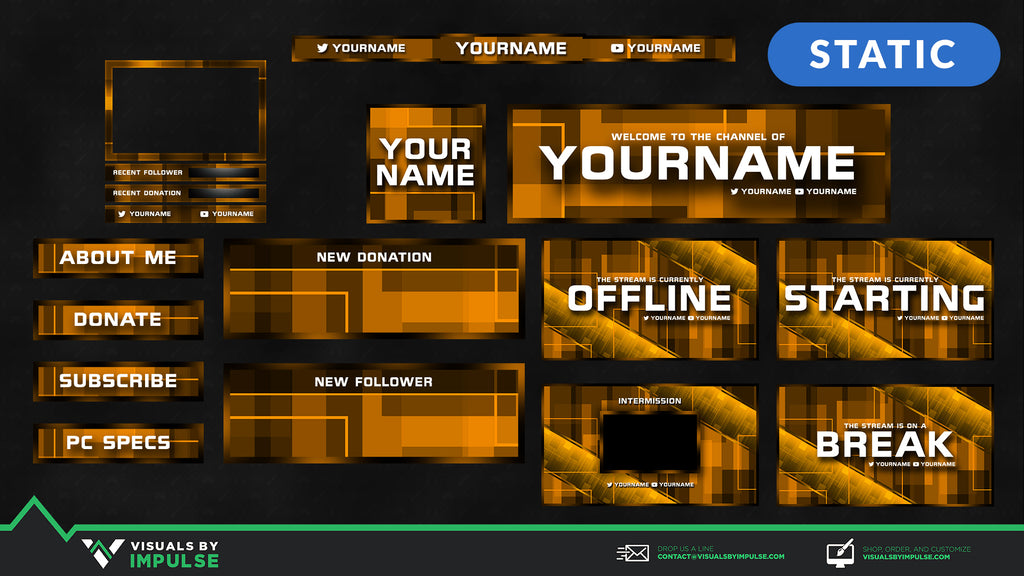 Chroma Matrix Stream Package - Visuals by Impulse