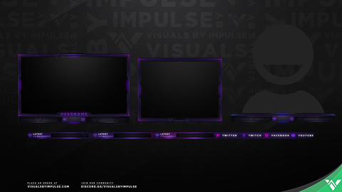 VHS Stream Overlays - Graphics for Twitch and Mixer Streamers