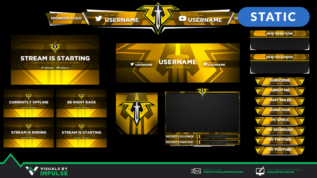 Paladin Sword Stream Package - Visuals by Impulse