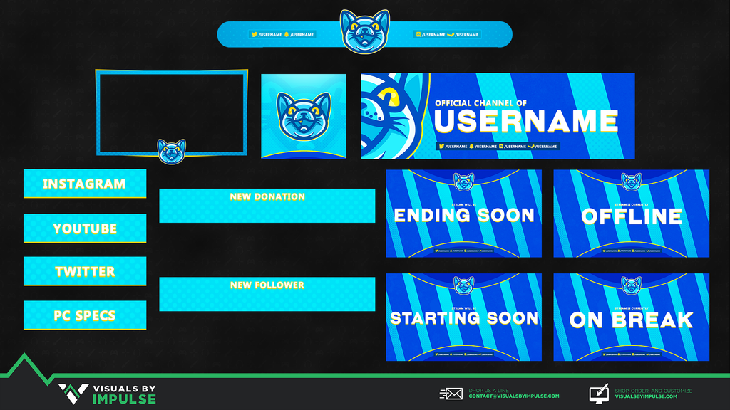 Frozen Feline Diamond Stream Package - Visuals by Impulse