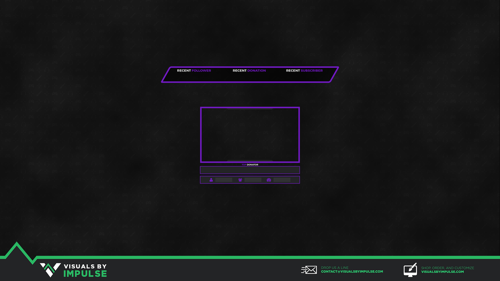 Violet Vengeance Stream Overlay - Visuals by Impulse