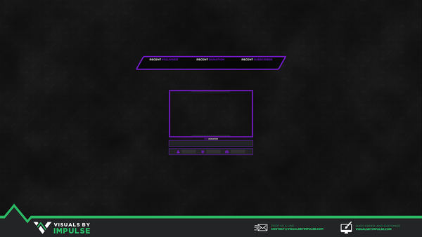 Free Twitch Stream Overlay | Visuals by Impulse