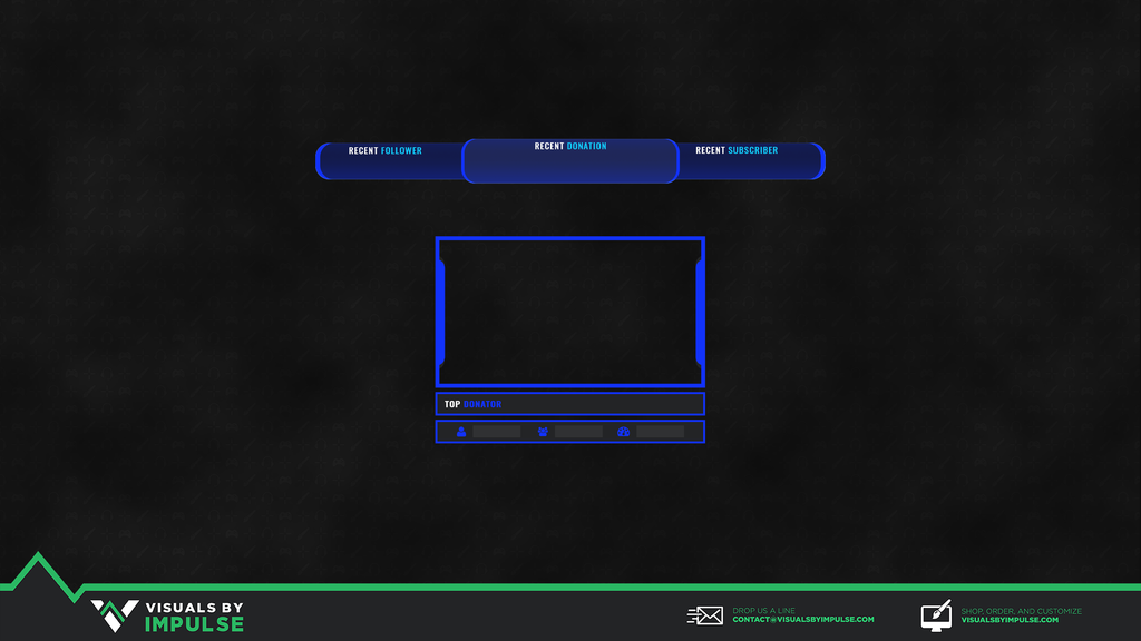 Race Blue Twitch Overlay - Visuals by Impulse