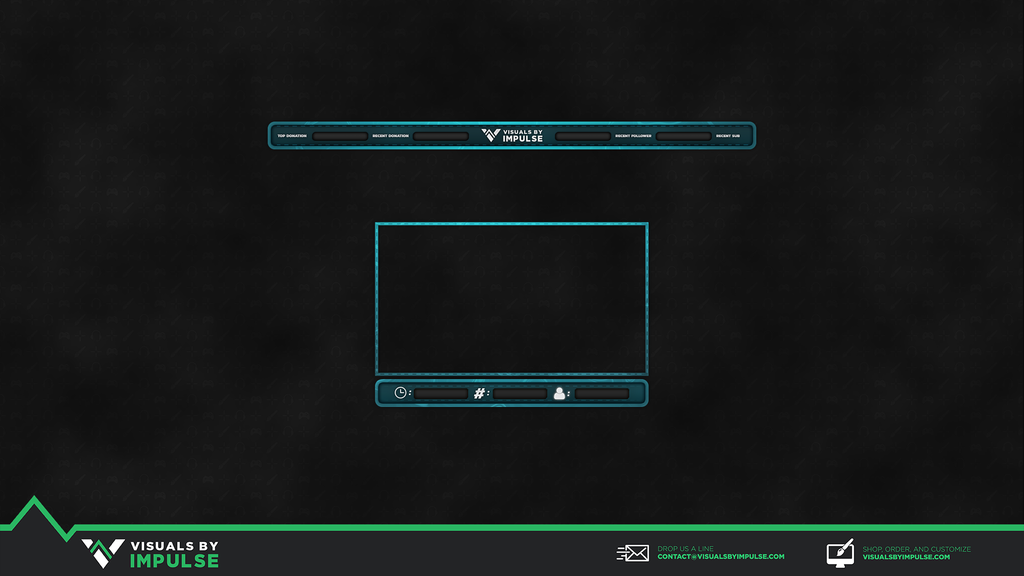 Cyan Stitch Twitch Overlay - Visuals by Impulse