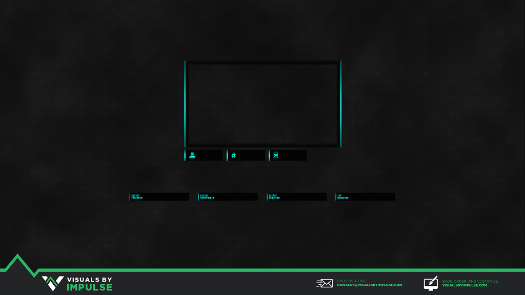 Aqua Steel Twitch Overlay - Visuals by Impulse