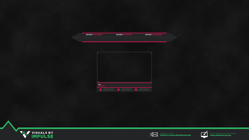 Pink Jacket Twitch Overlay - Visuals by Impulse