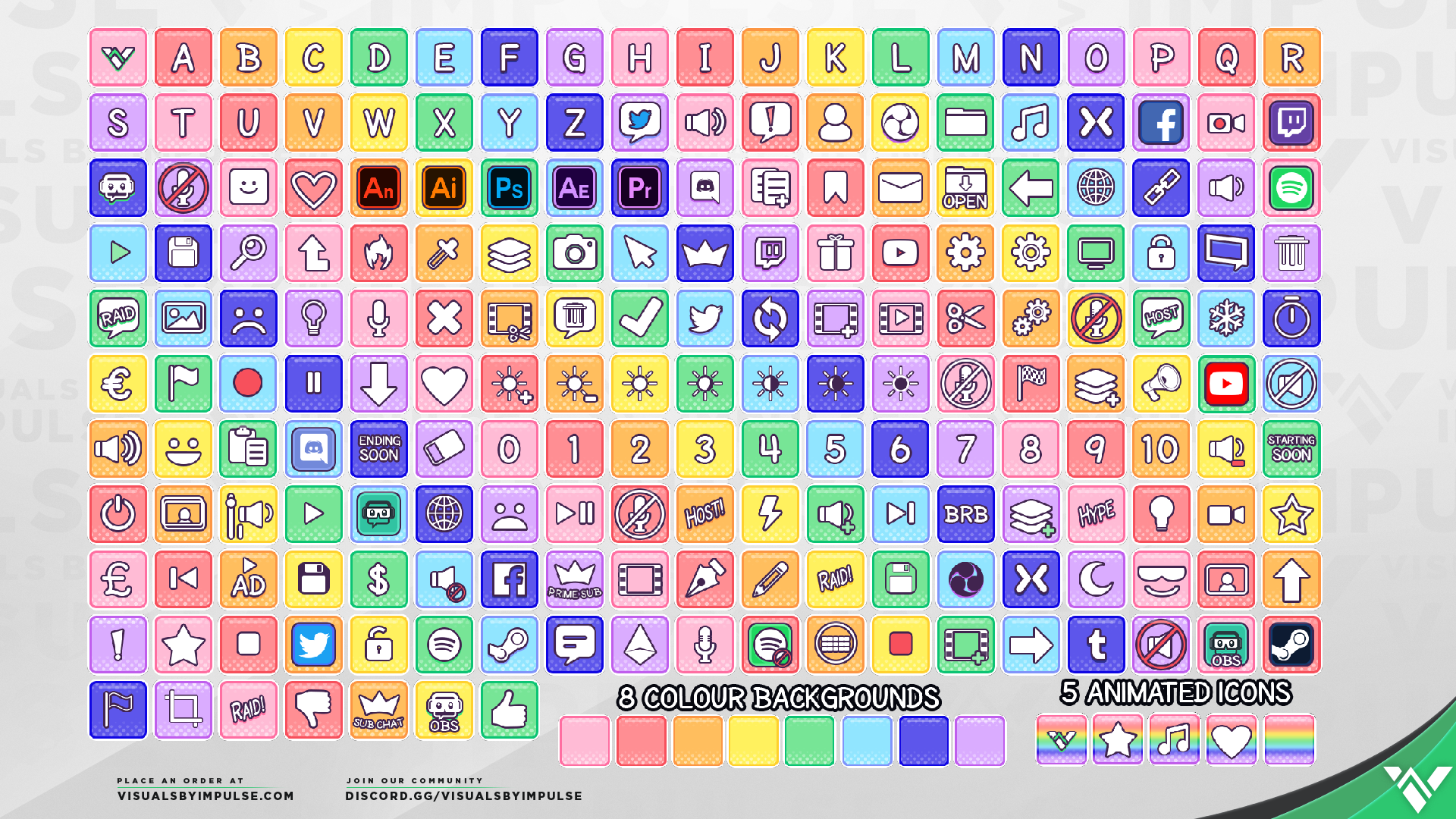 Rainbow: Free Elgato Stream Deck Icons for Twitch Streamers