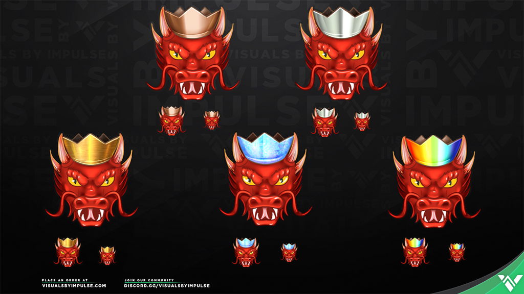 Dragon Queen Subscriber Badges - Visuals by Impulse