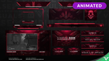 Red Skull Animated Stream Package - Visuals by Impulse