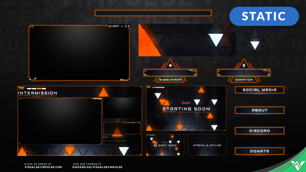 Signal Break Stream Package - Visuals by Impulse