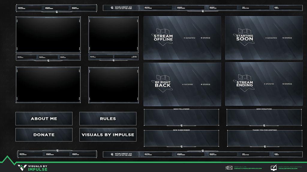 Free Graphics - Animated Stream Package WBG Edition