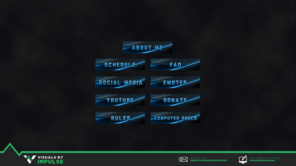 Free Graphics - Blue Abstract Twitch Panels