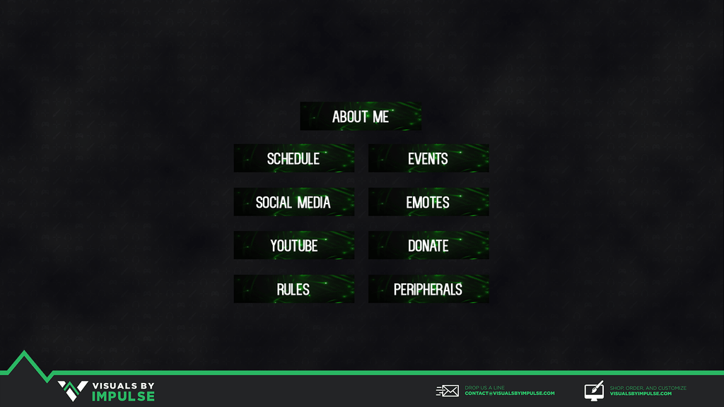 Glowing Twitch Panels - Visuals by Impulse