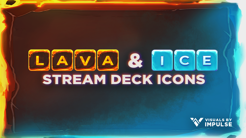 Lava & Ice Stream Deck Icons - Visuals by Impulse
