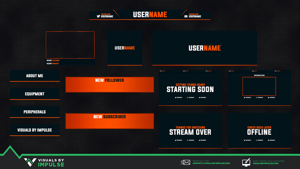 Citrus Stream Package - Visuals by Impulse