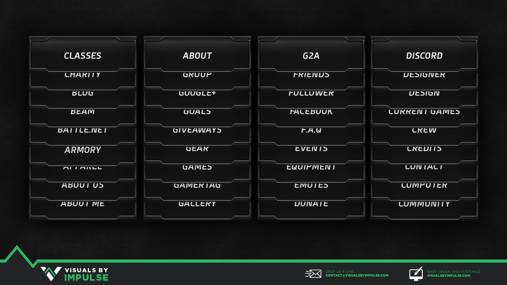 Carbon Twitch Panels - Visuals by Impulse