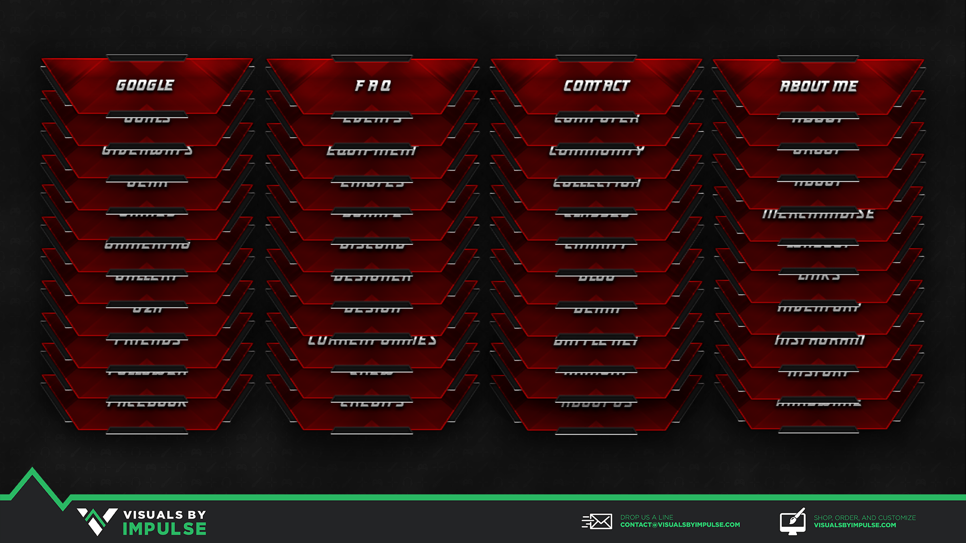 Crimson Steel Twitch Panels Visuals By Impulse