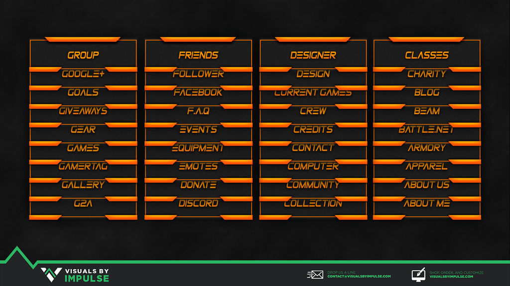 Fire Twitch Panels - Visuals by Impulse