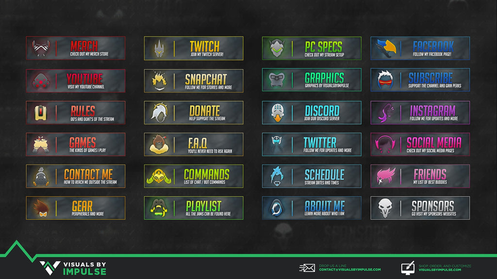 Overwatch Twitch Panels - Visuals by Impulse