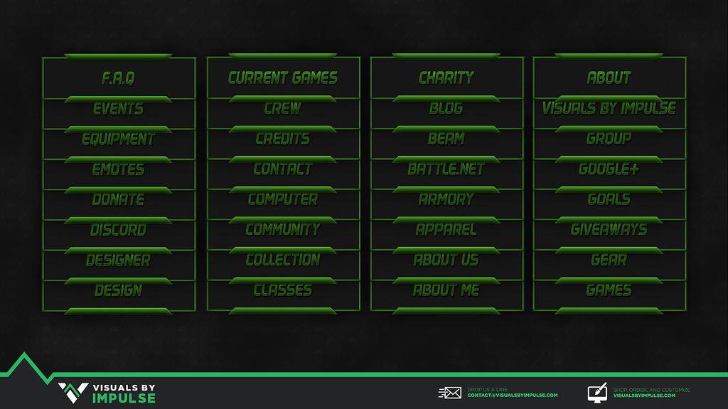 Poison Twitch Panels - Visuals by Impulse