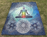 "Yoga ""7 Chakras"" Wall Tapestry"