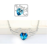 Heart Angel Wings & Love Pendant Necklace (3 Colors)