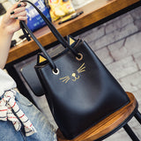 """Cat Ears & Whiskers"" Handbag Tote (4 Colors)"