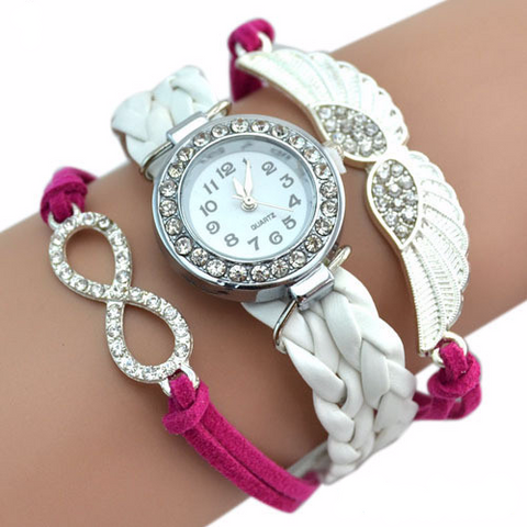 Angel Wings Infinity Bracelet Watch (4 Colors)