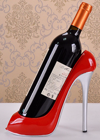 Wine Lovers High Heel Shoe Wine Bottle Holder (3 Colors)