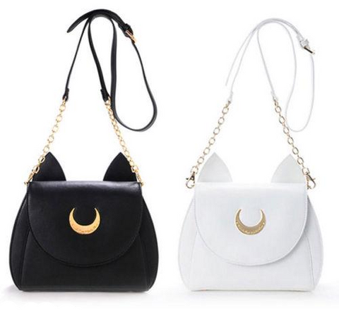 """Cat Ears"" Half-Moon Handbag (2 Colors)"