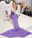 """Mermaid Tail"" Knitted Blanket (8 Colors)"