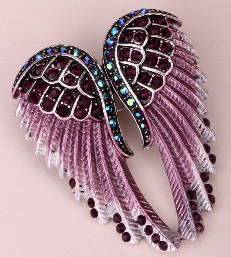 Clear Choice Reviews >> Angel Wings Crystal Brooch Pin (14 Colors) – Crazy Aunt ...