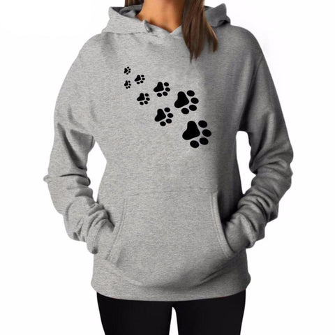 """Cat & Dog Paw Prints"" Pet Parent's Hoodie (3 Colors)"
