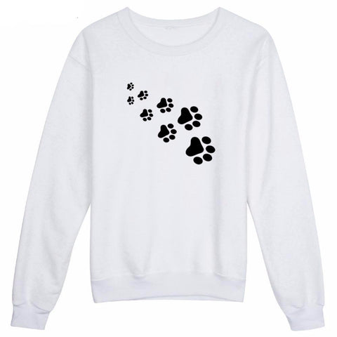 """Cat & Dog Paw Prints"" Pet Parent's Sweatshirt (3 Colors)"