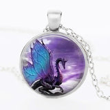 Dragon Purple Fantasy Pendant Necklace (2 Colors)
