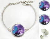 Dragon Purple Fantasy Bracelet & Earrings