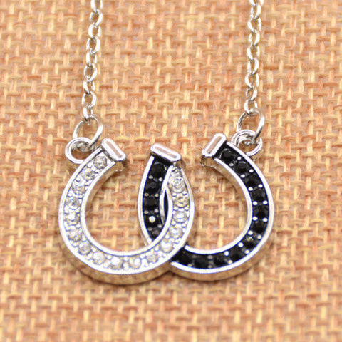 Double Horseshoe Pendant Necklace