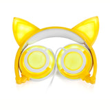 """Cat Ears"" Rechargeable LED Lighted Headphones (5 Colors)"