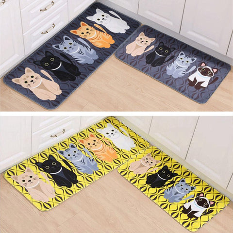 """Cutest Cats"" Floor Mat (2 Colors in 4 Sizes)"