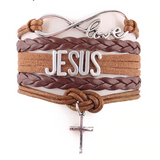 """Jesus"" Love & Infinity Cross Charm Bracelet (7 Colors)"