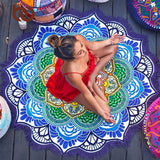 "Yoga ""Lotus Flower Mandala"" Blanket & Tapestry (7 Colors)"