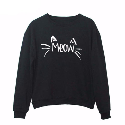 """MEOW & Whiskers"" Cat Sweatshirt (3 Colors)"
