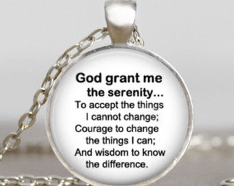 "God's ""Serenity Prayer"" Pendant Necklace"