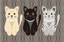"""Cutest Cats"" Floor Mat (2 Colors in 5 Sizes)"